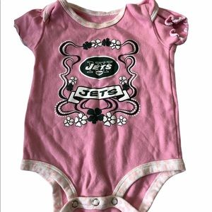 NFL JETS Baby Girls Pink T-Shirt Size 0-3m